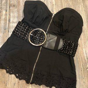 Black Strapless Top 2B Bebe